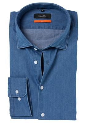 Seidensticker Slim Fit overhemd, blauw jeans
