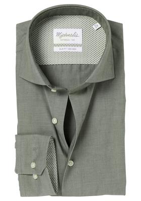 Michaelis Slim Fit overhemd, olijf groen(contrast)