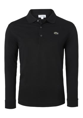 Lacoste Sport polo lange mouwen Regular Fit, zwart (ultra lightweight knit)