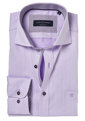 Casa Moda Comfort Fit overhemd, lila visgraat (contrast)