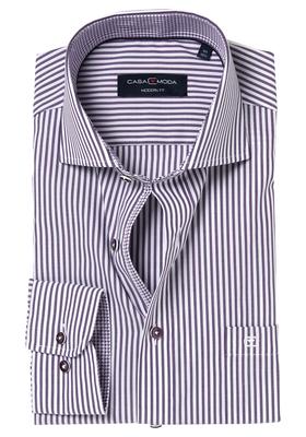 Casa Moda Modern Fit overhemd, paars gestreept (contrast)
