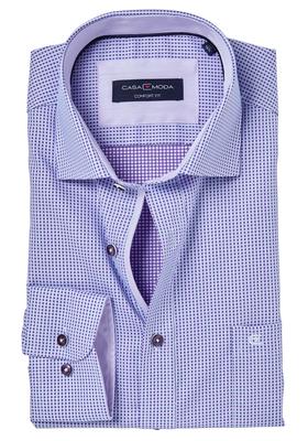 Casa Moda Comfort Fit overhemd, paars dessin (contrast)