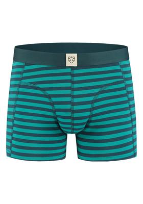 A-dam boxershort Boris, groen-blauw gestreept