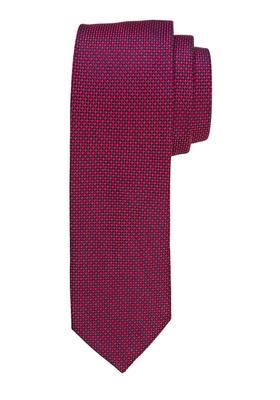 Michaelis stropdas, bordeaux rood motief
