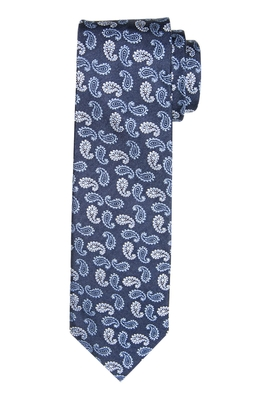 Michaelis stropdas, blauw paisley