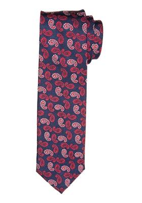 Michaelis stropdas, marine blauw rood paisley