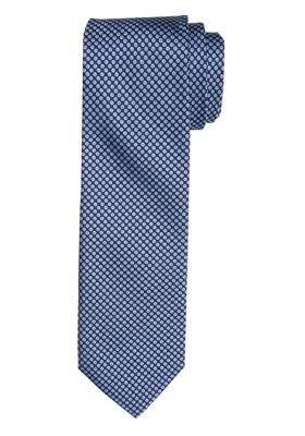 Michaelis stropdas, blauw wit motief