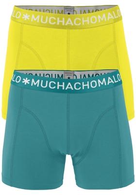 Muchachomalo boxershorts, 2-pack, solid petrol en geel