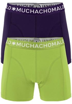 Muchachomalo boxershorts, 2-pack, solid lime paars en zwart