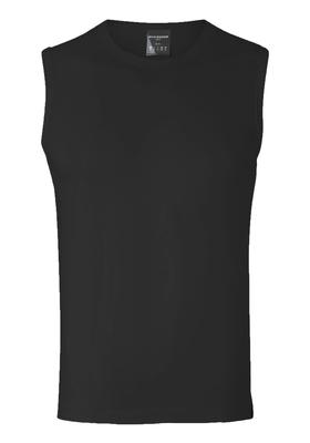 Schiesser 95/5, heren Tanktop, zwart, hoge hals