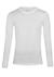 Schiesser 95/5, heren T-shirt O-hals, wit lange mouwen