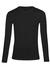 SCHIESSER 95/5 T-shirt (1-pack), O-hals lange mouw, zwart