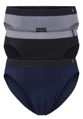 Actie 3-pack: Schiesser 95/5, Rio heren slips, zwart, grijs, blauw