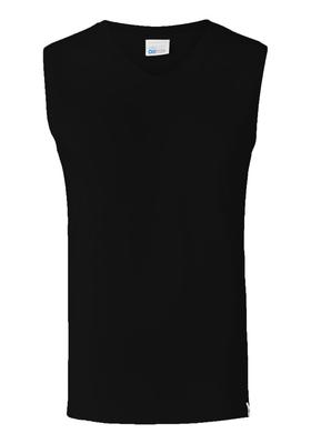 SCHIESSER Long Life Cotton tanktop (1-pack), V-hals, zwart