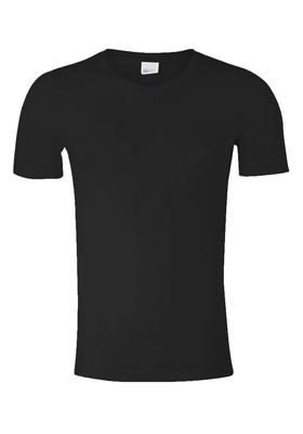 Schiesser Long Life Cotton T-shirt V-hals, zwart