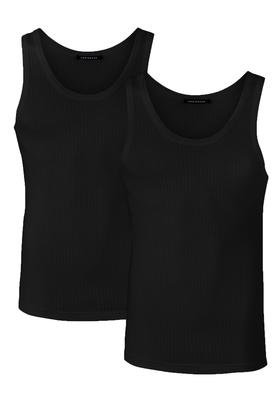 SCHIESSER Authentic singlets (2-pack), zwart