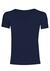 Schiesser Laser Cut, naadloos heren T-shirt diepe V-hals, blauw