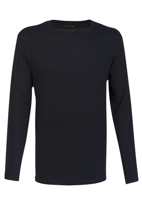 SCHIESSER Mix+Relax T-shirt, lange mouw O-hals, blauw