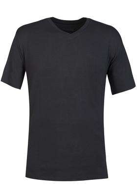 Schiesser Mix+Relax heren lounge t-shirt korte mouw V-hals, antraciet