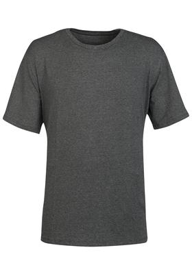 Schiesser Mix+Relax heren lounge t-shirt korte mouw O-hals, antraciet melange