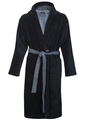 Schiesser heren badjas, blauw/lichtblauw ultralicht