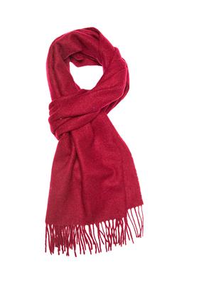 Michaelis heren sjaal (wol), bordeaux rood