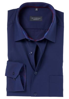 ETERNA Comfort Fit overhemd, blauw (contrast)