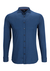 Desoto Slim Fit tricot overhemd, middenblauw stretch
