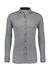 Desoto Slim Fit tricot overhemd, zwart structuur stretch