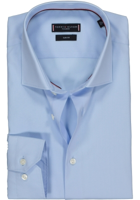 Tommy Hilfiger Core stretch Slim Fit overhemd, lichtblauw