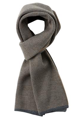 Michaelis heren sjaal, grijs met beige visgraat