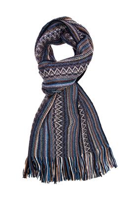 Michaelis heren sjaal, blauw-bruin gestreept