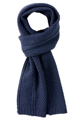 Michaelis heren sjaal, blauw gebreid