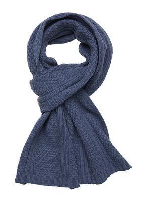 Michaelis heren sjaal, jeansblauw gebreid