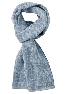 Michaelis heren sjaal, grijs-blauw visgraat