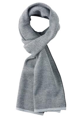 Michaelis heren sjaal, antraciet-grijs visgraat