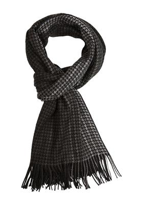 Michaelis heren sjaal grijs-zwart pied de poule