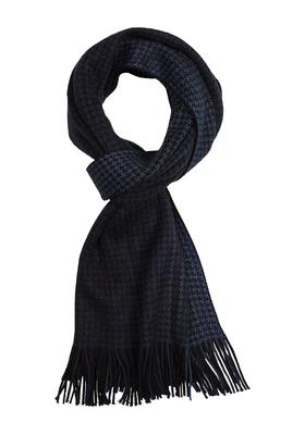 Michaelis heren sjaal blauw-zwart pied de poule