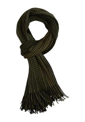 Michaelis heren sjaal groen-zwart pied de poule