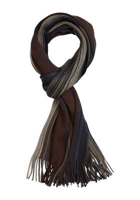 Michaelis heren sjaal, grijs-blauw-bruin gestreept