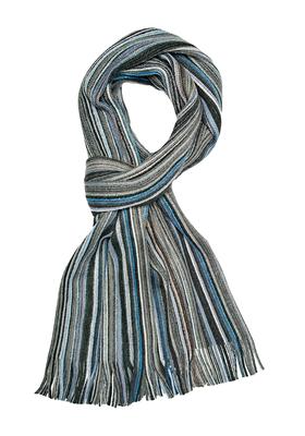 Michaelis heren sjaal, grijs-blauw gestreept