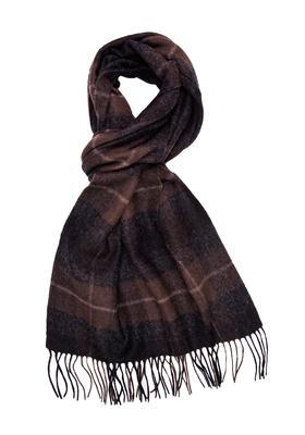 Michaelis heren sjaal, bruin geruit