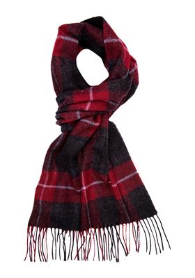 Michaelis heren sjaal, bordeaux-zwart geruit