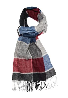 Michaelis heren sjaal, grijs-blauw-bordeaux geruit