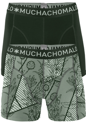 Muchachomalo boxershorts, 2-pack, Concrete, beton grijs