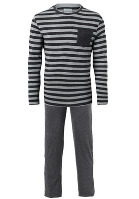 Ten Cate heren pyjama, donkergrijs gestreept