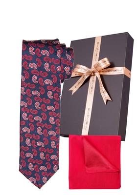 Set Michaelis stropdas met pochet, rood-wit-blauw in cadeaudoos