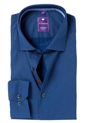 Redmond Slim Fit overhemd, blauw dessin