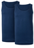 Ten Cate Basic heren singlets O-hals, 2-pack, blauw
