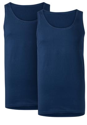 Ten Cate Basic heren singlets O-hals, 2-pack, blauw